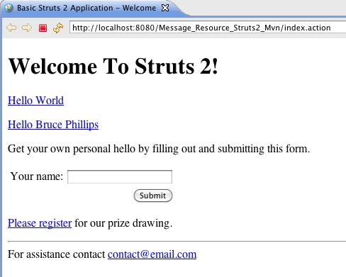 Struts2 + freemarker ftl integration example with tutorial.