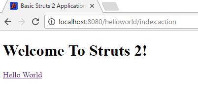 Hello World Using Struts 2